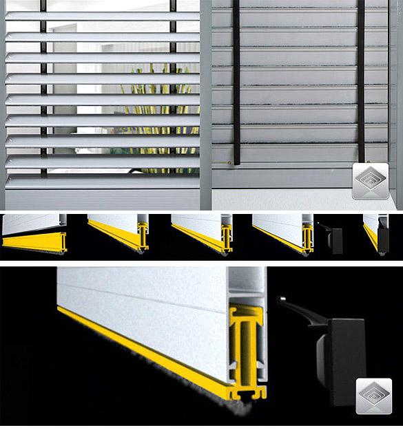 Persianas linea abx rgb productos aberlux aberturas for Ventanas de aluminio con cortina